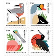 New USPS Coastal Birds pane of 20 Postcard Rate