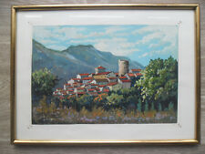 Maurice Paul Chevalier (1898-1984)   Gouache   Paysage du Midi