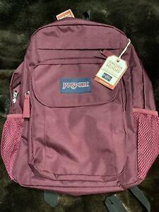 Jansport Backpack Red 4 Pocket Zippered School Campus Shoulder Bag Backpack NWT