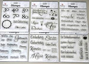 Abverkauf Clear Stamps Stempel Siliconstempel EinladungGeburtstag Silikonstempel