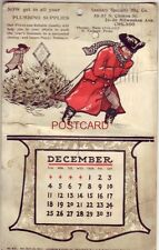 1904 ADVERTISING CALENDAR (Dec only) SANITARY SPECIALTY MFG. CHICAGO H. Verbeek