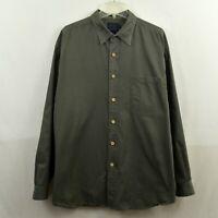 Indigo Palms by Tommy Bahama Men's Long Sleeve Shirt Size XL Extra Large Green