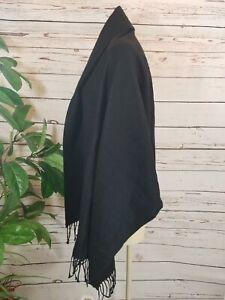 New wrap Shawl Made in Italy CharterClub Acrylic Fringe Scarf OS black #1017
