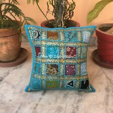 Indian Patchwork Cotton Cushion Cover Handmade Throw Pillow Cases Covers 16""
