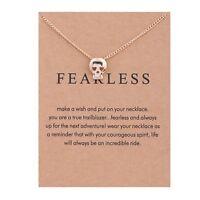 Women Alloy Skull Head Pendant Clavicle Chain Necklace Jewelry Retro New