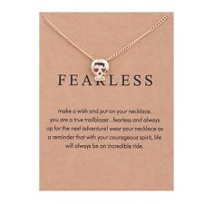 Women Alloy Skull Head Pendant Clavicle Chain Necklace Jewelry Retro