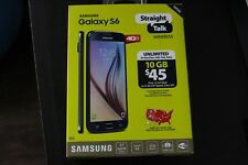 ON SALE !! NEW STRAIGHT TALK Samsung S6 FIRST 10 GB DATA 32GB Black (SM-S907VL)