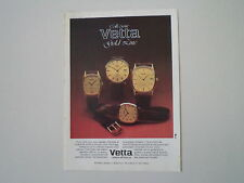 advertising Pubblicità 1982 VETTA GOLD LINE