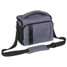 Kameratasche Schultertasche XL SLR Foto Tasche Hülle Case mit Regenschutz, grau