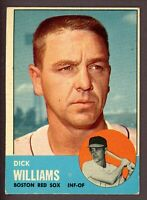 1963 Topps Baseball #328 Dick Williams Boston Red Sox - 4th Series
