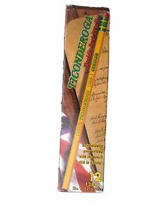 3 12 Ct. Boxes Of Vintage Dixon Ticonderoga Pencils No. 2 Soft 1388