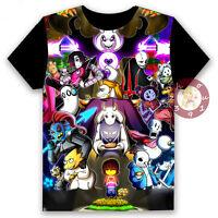 Anime Undertale Sans/Chara/Muffet Unisex T-shirt Cosplay Tee Short Sleeve#16DY94