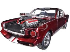 1965 SHELBY MUSTANG GT350R RED/SILVER RACE ENGINE 1/18 SHELBY COLLECTIBLES SC117