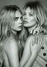 "Cara Delevingne Kate Moss Hot Sexy Super Models HQ Silk Poster 24""×36""/60×90cm"