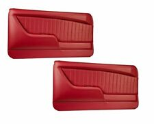 Sport II Molded Door Panel Set - Red - for 1968 Camaro by TMI - Made in USA