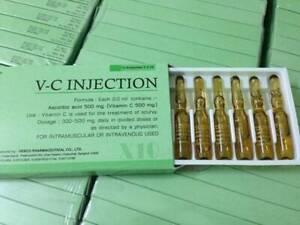 Pure Vitamin C Ampoules Anti-Aging Ascorbic Acid 2ml. 2-6 boxes