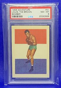 1956 Topps Adventure Boxing Joe Louis #41 PSA 8 NM-MT The Brown Bomber Vintage