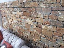 Natural Stone Wall Cladding, Quartz, Golden Brown, Price Per m2