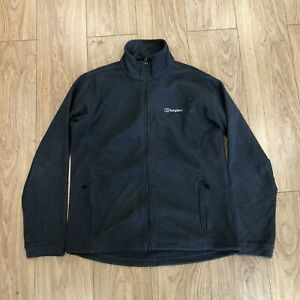 Mens Zip Up Fleece Jacket L Large Berghaus Grey B6075