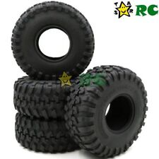 4pc RC 2.2'' Crawler Trail Tires Tyres 130mm Fit Axial Gmade 2.2 Beadlock Wheels