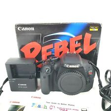 Canon EOS Rebel T3i 600D DSLR Camera Black (Body Only) TESTED & WORKING