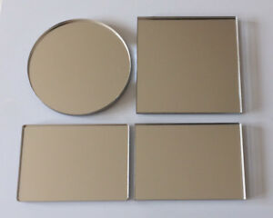 Silver Acrylic Safety Mirror Perspex Plastic Safe Anti Shatter (112 Options)