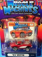 MAISTO 1:64 MUSCLE MACHINES, 1962 Corvette VETTE Huge Chrome Motor & Injecters