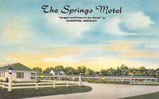Lexington Kentucky 1940s Postcard The Springs Motel
