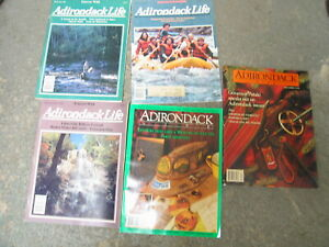 Lot of Old New York  Adirondack Life Outdoor Magazines 80s-90s
