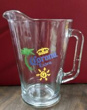 Vintage Corona Extra Clear Heavy Duty Glass Beer Pitcher 60 Ounces