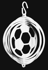 SWEN Products SOCCER BALL WHITE Tini Swirly Metal Wind Spinner