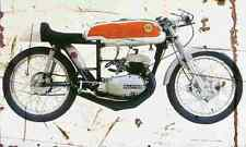 Bultaco 125 Aire 1961 Aged Vintage Photo Print A4 Retro poster