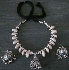 Beauty Shell Necklace Choker Earrings Boho Gypsy Vintage Beachy new