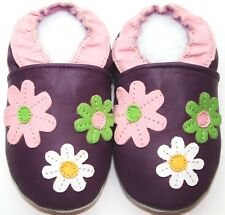 soft sole baby leather shoes daisy purple 18-24 m girl free shipping minishoezoo