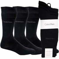 Calvin Klein 3-Pack Flat Knit Men's Socks, Navy One Size