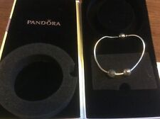 GENUINE/AUTHENTIC PANDORA ESSENCE CHARM BRACELET with 2 CHARMS new
