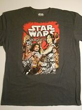 Star Wars ROGUE ONE T-shirt Mens Size XXL(50/52) Jyn Erso, Captain Andor, K-2SO