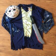 Jason Voorhees Size Adult Medium Costume Mask Shirt Camp Crystal Lake Machete