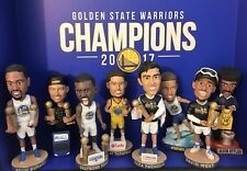 Golden State Warriors Bobblehead 2017-2018 Set + RING + TROPHY + SHIRT+FLAG+etc
