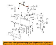 Engine Coolant Recovery Tank Hose General Motors 22756186