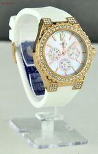 Nuevo Reloj GUESS Acero Blanco Goma Mujer U16529L1