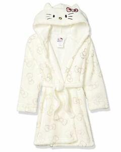 Hello Kitty Velvet Fleece Hooded Plush Bathrobe