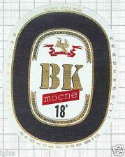 POLAND - Browar Kormoran,Olsztyn - BK Mocne - beer label C1484
