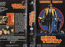 DICK TRACY - Warren Beatty - VHS -PAL -NEW - Never played! - Original Oz release