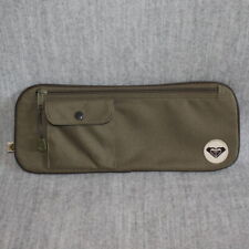 QUIKSILVER Roxy Unisex Army Green Over-Sized 35cm Travel Canvas Zipper Pouch Bag