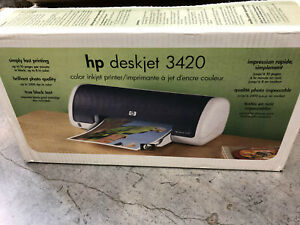 HP Deskjet 3420 COLOR Inkjet Photo USB Printer NEW in Box Complete!