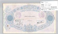 BILLET FRANCE - 500 FRANCS - 9.2.1939