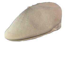 Lake Of The Isles Mens Flat Driver News Boy Hat Ivory Knit Summer Cap M / L