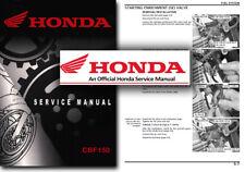 Servicio De Honda CBF150 Manual de taller reparación tienda CBF 150 CBF150