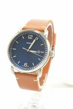 Fossil FS5325 Commuter Blue Dial Brown Leather Strap Men's Watch